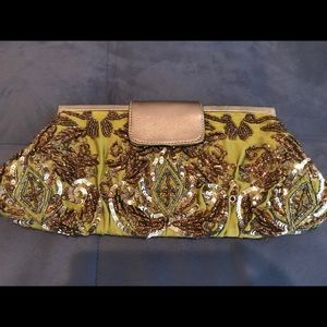 Santi Handmade Silk Beaded Clutch
